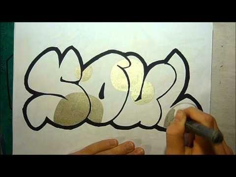 ▶ Graffiti Sketch Soul in Bubble Letters By EastSider - YouTube