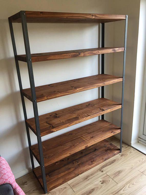 Teak Rustic Shelving Bookcase