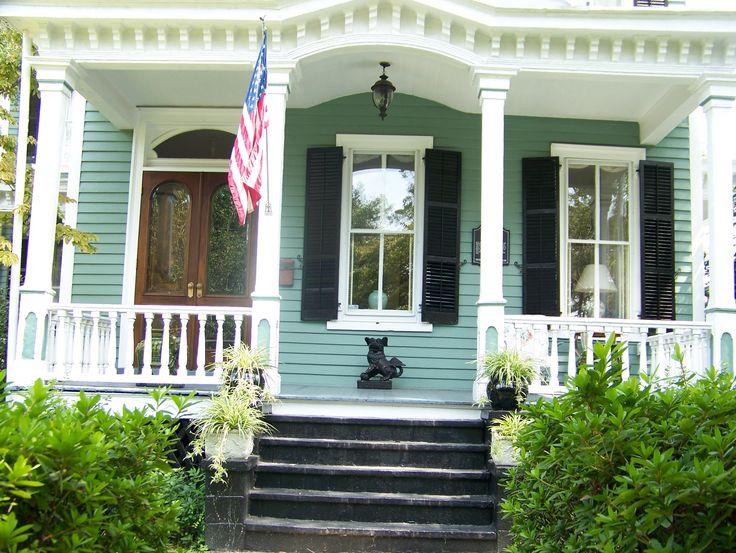 Green White Black Trim Exterior House Colors Pinterest Mint Green Cute Little Houses
