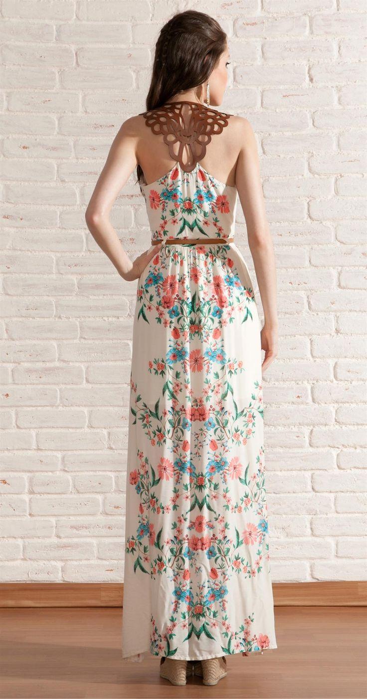 Vestido Longo Flores | Novidades | Antix Store