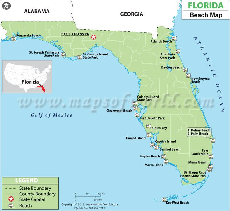 Best Florida Beaches Map Ideas On Pinterest Map Of Miami - Map of florida usa