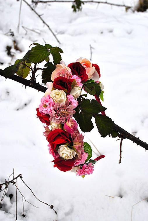 jolie.fleur / Čelenka Šípková Ruženka