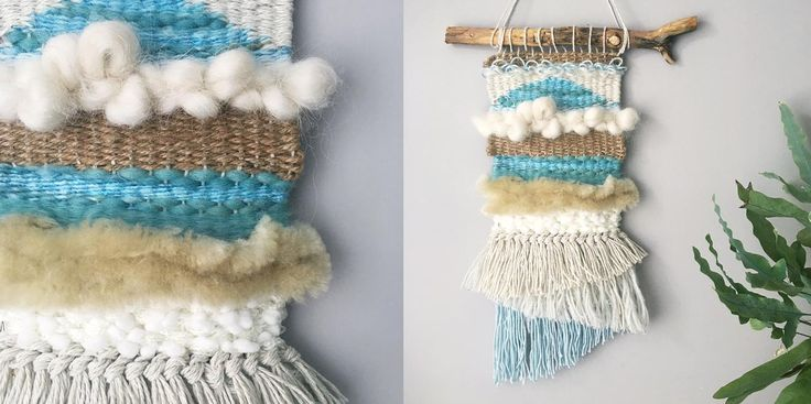 Weaving a wall hanging - Great use for project leftovers!!