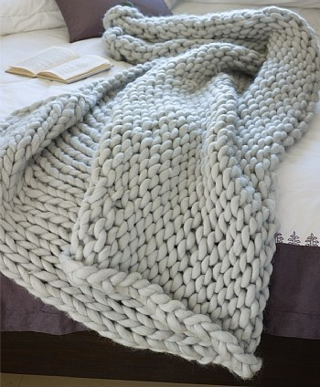chunky knit throw for winter