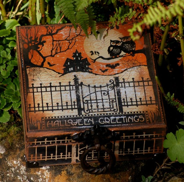 Graphic 45 Altered Halloween Boxes