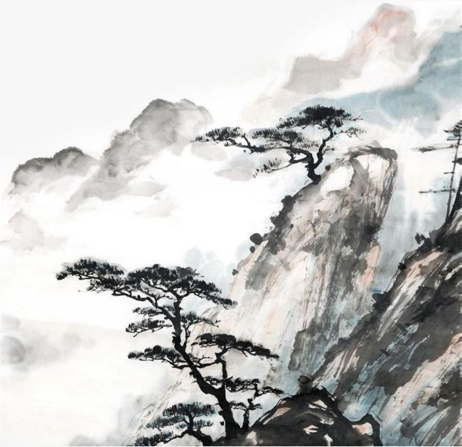 Ink And Canvas Ink Willow Freehand Ink Painting Ink Decoration Png Transparent Clipart Image And Psd File For Free Download Chinese Landscape Painting Chinese Landscape Landscape Paintings