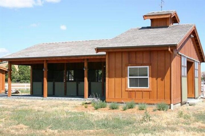 20 best images about small horse barn on pinterest for Farm shed ideas