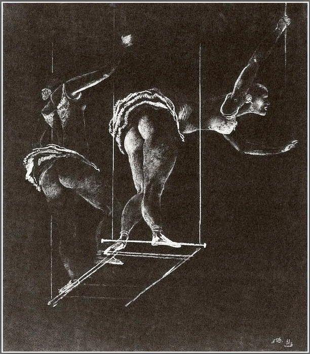 """""""Acrobats"""" Aleksandr Deyneka - 1931"""