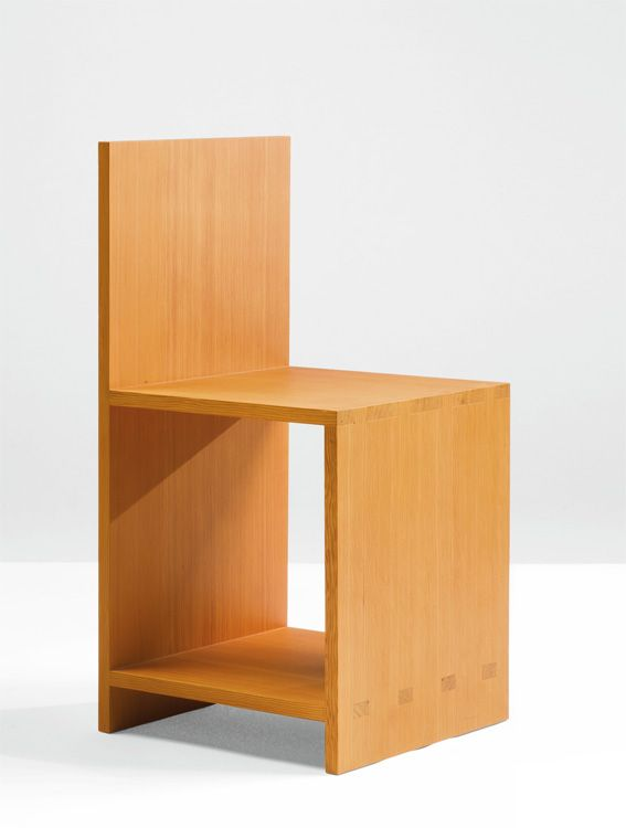 vetustanova: DONALD JUDD, CHAIR, number 3 from an edition of 10 and 2 production proofs 1984