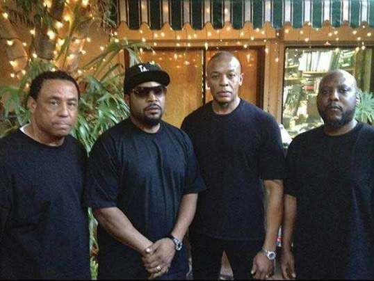 @proulxjustice  The surviving members of NWA: DJ Yella, Ice Cube, Dr. Dre, and MC Ren