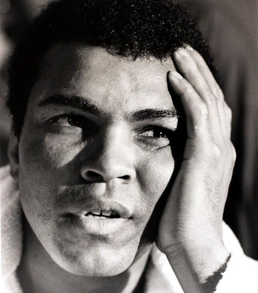 Sport Boxing Las Vegas Nevada USA 14th February 1973 USA's Muhammad Ali is pictured after his fight against Great Britain's Joe Bugner Ali outpointed...