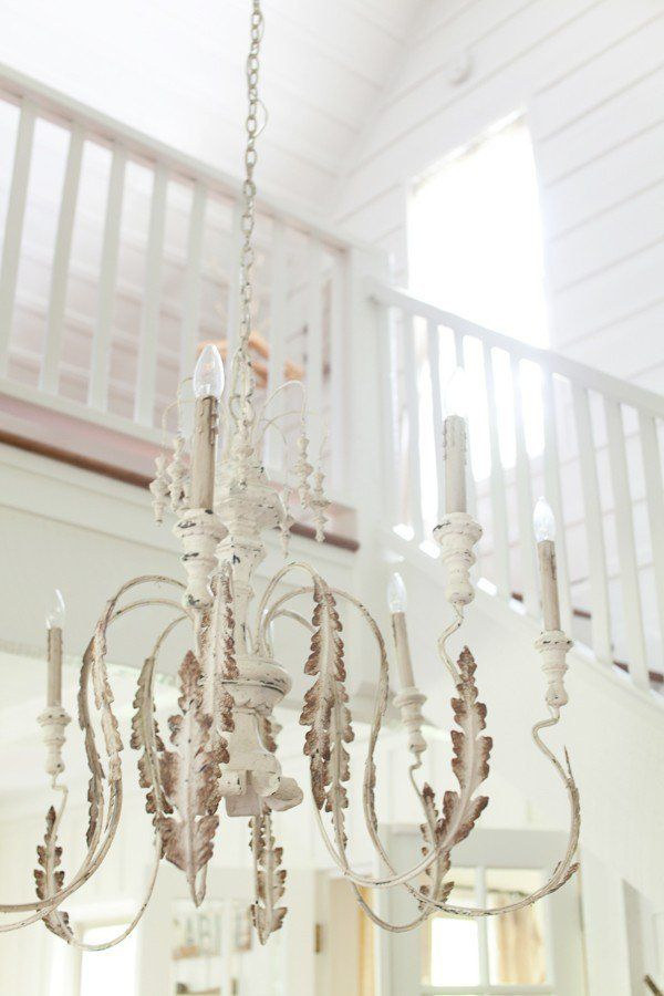 Beautiful rustic chandelier from The Lettered Cottage || Friday Favorites at www.andersonandgrant.com