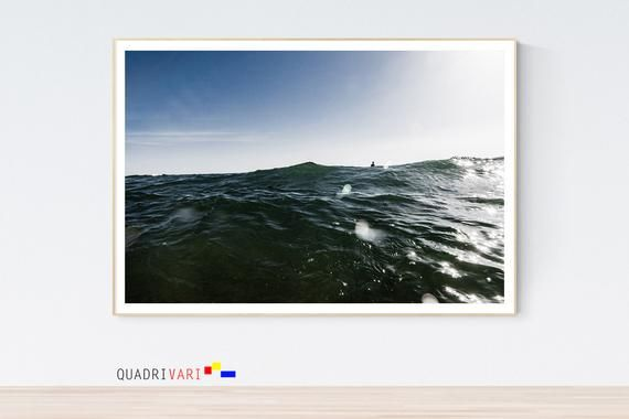 Icymi Large Sea Print Large Beach Print Minimalist Wall Art Sea Waves Download Print By Quadrivari In 2020 Ocean Wall Art Beach Print Nautical Art