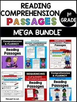 First Grade Reading Comprehension Passages Mega Bundle! ALL my reading…