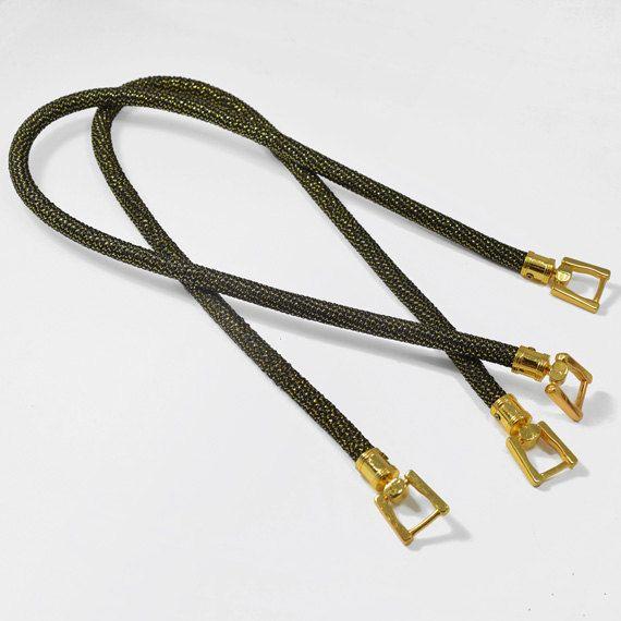 28 Fabric Handbag Handles with metal buckle by 1 pair