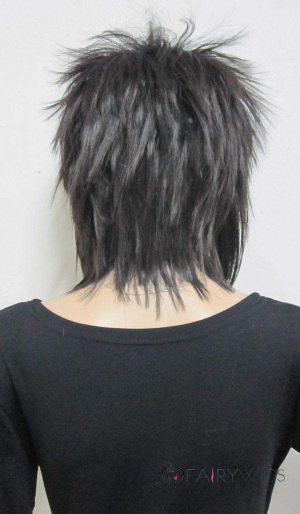 Ancient Capless Short Synthetic Hair Black Straigh…
