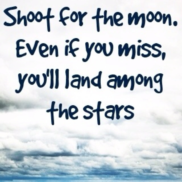 Inspirational Quotes On Pinterest: Aim High For Stars Quotes. QuotesGram