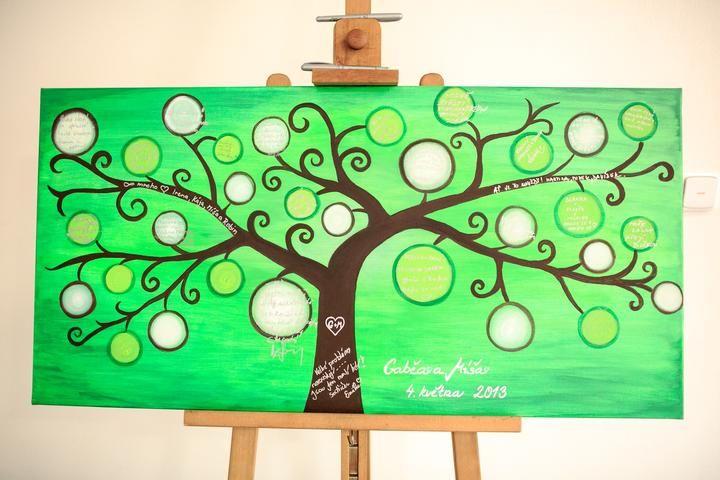 Green Wedding Tree/Svatební strom zelený