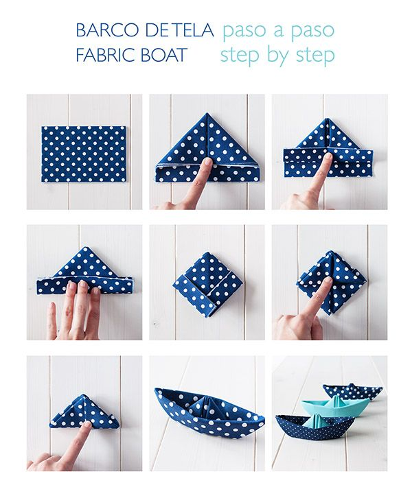 The Cat in Boots: Boats Cloth / Fabric boats