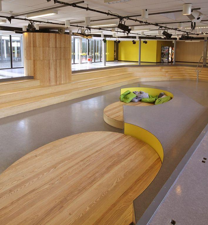 Auditorium Secondary school - auditorium design design detailing design for children design product interior maarten olden school usit