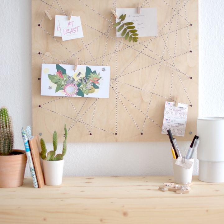 Pinnwand Selbst Machen Memoboard DIY