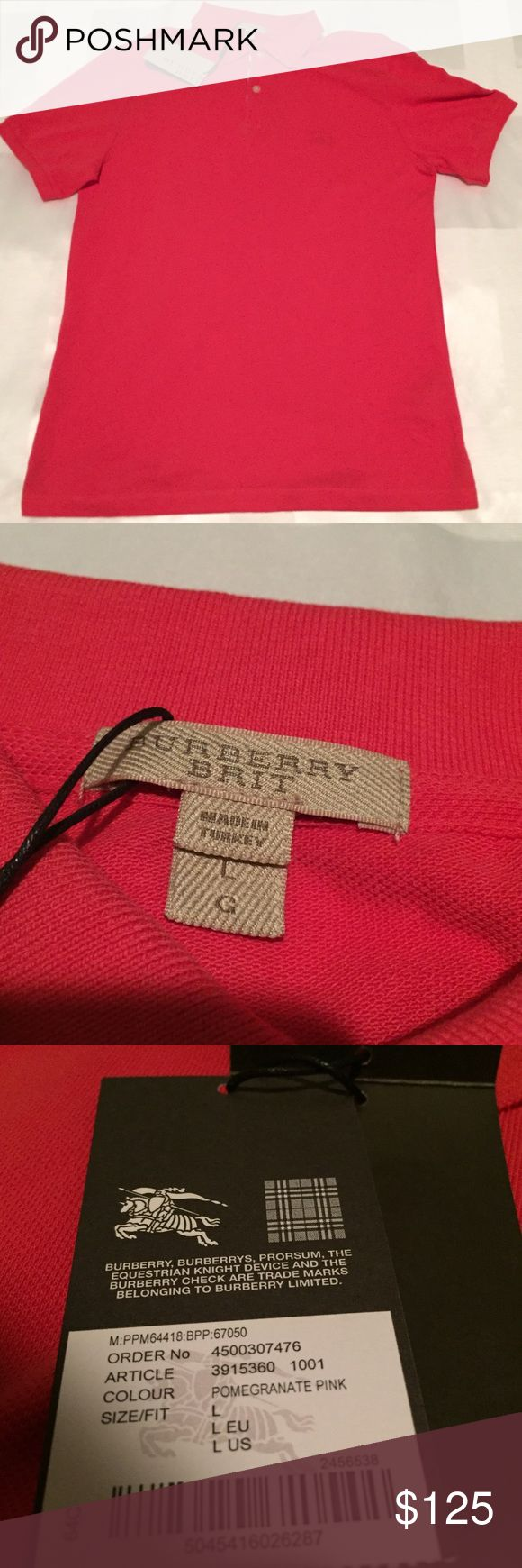 Burberry Men's Polo (Authentic) Was given as a gift but is to tight for my liking. Never worn or used  Original tags still attached Burberry Shirts Polos