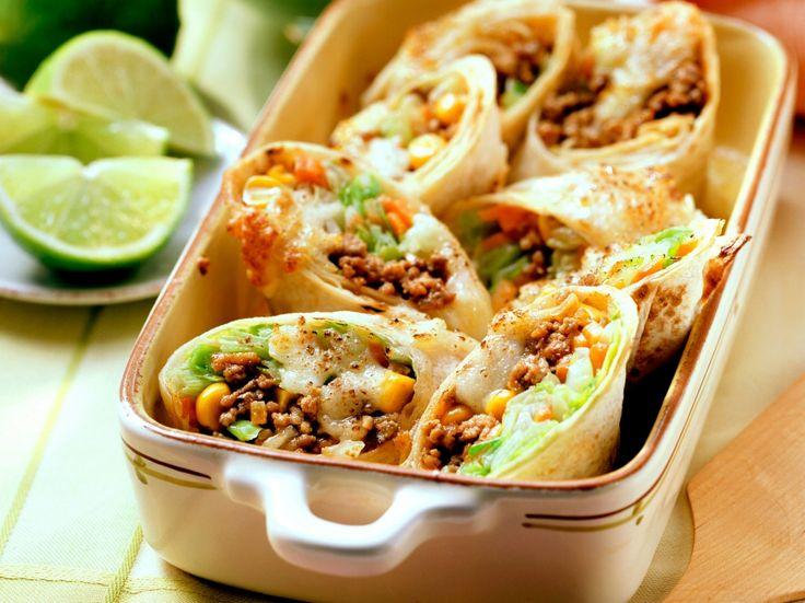 Mexicaanse wraps met guacamole-dip
