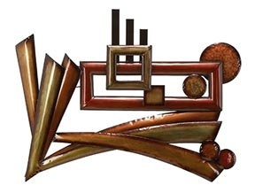 Abstract Metal Multi Colored Wall Art Decor #66616 $69.99