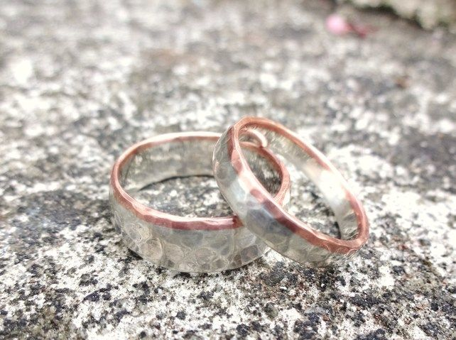 A Pair of Silver and Copper Wedding Bands £120.00