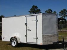 NEW 6x12 6 x 12 V-Nose Enclosed Cargo Trailer w/ RAMPheavy equipment trailers apply now www.bncfin.com/apply