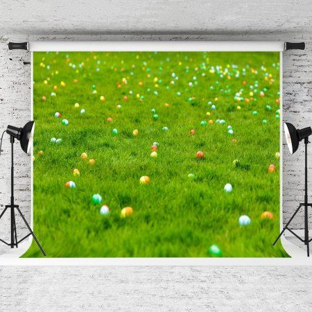 HelloDecor Polyster 7x5ft Spring Meadow Photography Backdrop Easter Eggs Hidden in Grass Background for Children Photo Studio Backdrops - Walmart.com