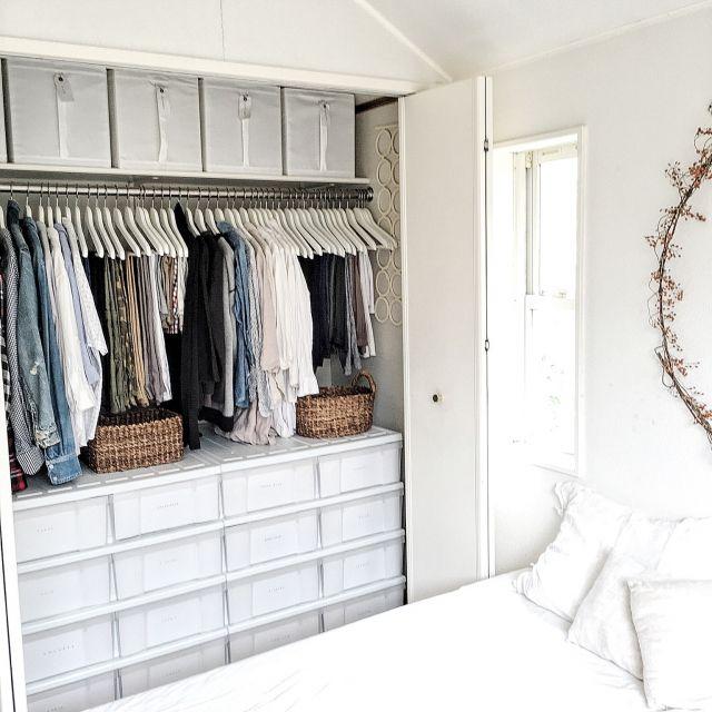 クローゼット/収納/IKEA/Bedroomのインテリア実例 - 2016-03-16 12:39:11 | RoomClip(ルームクリップ)