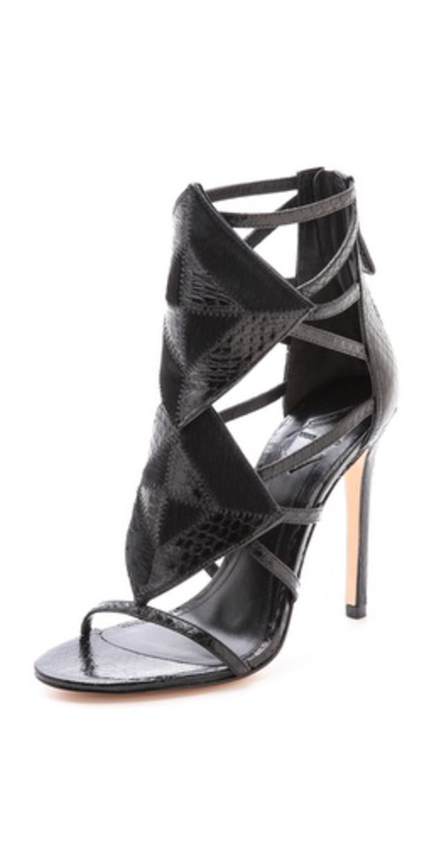 Luanna Caged Sandals #brianatwoodheelslouboutinshoes