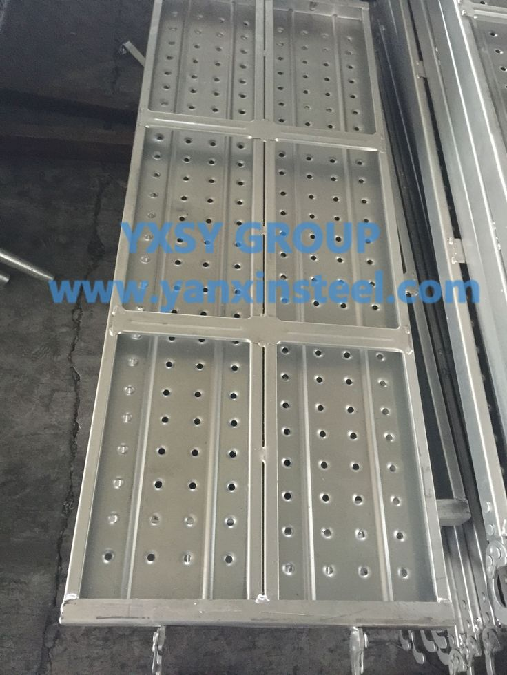 The Surface treatment of #ScaffoldSteelPlank we adopt Pre-galvanized