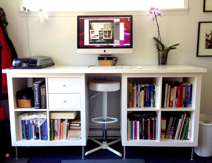 Eco-Friendly Furniture to Green Up Your Office Space --- DIY Standing Desk Made of IKEA Products