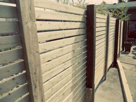 how to build a modern diy horizontal slat fence