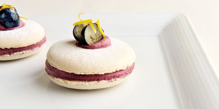 James Sommerin shares his delicious blueberry and lemon macarons recipe, which look and taste incredible. Serve these macarons for a summery afternoon tea