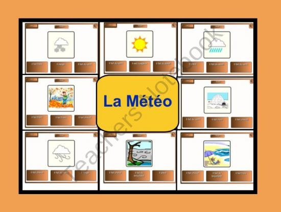 Smartboard: La Meteo Flash Cards and Multiple Choice Answers product from Teaching-The-Smart-Way on TeachersNotebook.com