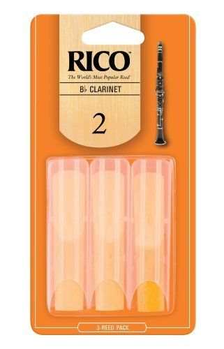 Rico Bb Clarinet Reeds, Strength 2.0, 3-pack by D'Addario &Co. Inc. $3.99. From the Manufacturer                Designed for a wide variety of playing situations, Rico Reeds in strength 2.0 are designed to vibrate easily. Featuring an unfiled cut and thinner vamp, Rico offers an ease of play that, combined with its affordable price and convenient packaging options, explains why more musicians worldwide find Rico the best value. Rico reeds have been the standard amo...