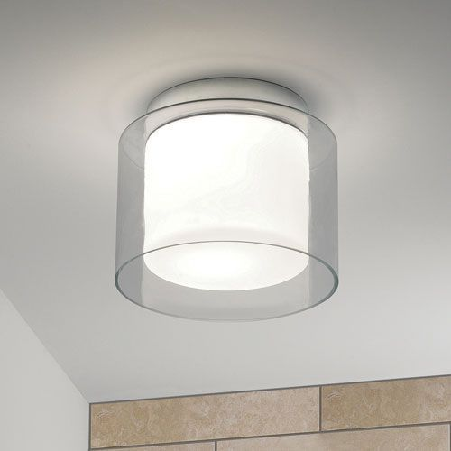 The Arezzo Bathroom Ceiling Light Has A Polished Chrome Finish, White Opal  Diffuser And Clear