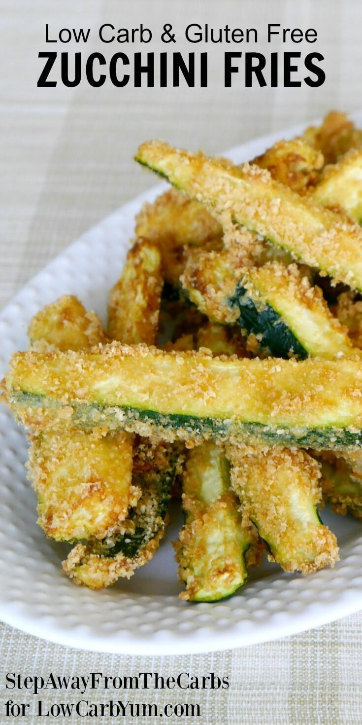 There are plenty of vegetables other than potatoes to make fries. Discover how easy it is to make your own low carb zucchini fries with this simple recipe. | LowCarbYum.com via @lowcarbyum