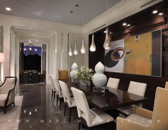 Contemporary Residence In Boca Raton Florida Eclectic Dining RoomsContemporary
