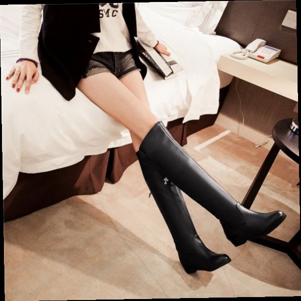 52.00$  Watch now - http://aliqoq.worldwells.pw/go.php?t=32612381365 - 2015  new winter british style solid color knee-highl women boots med heel boots comfortable and breathess women boot E3620 52.00$