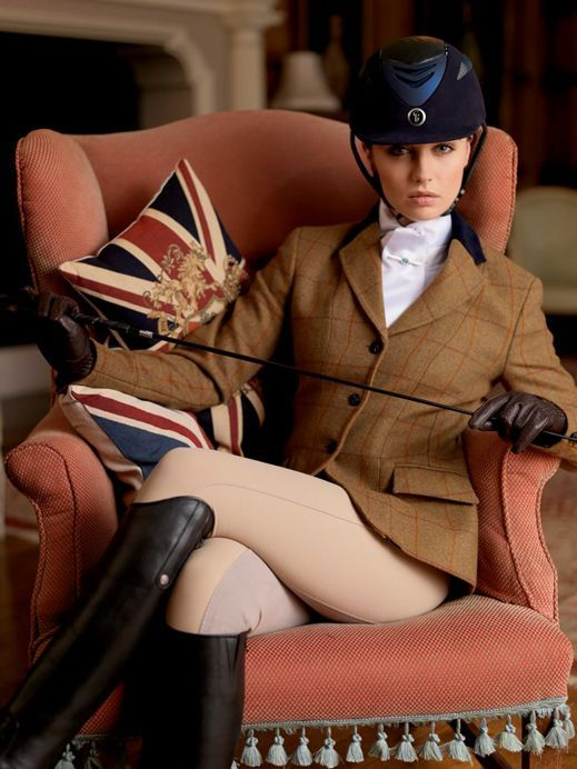 British country style tweed womens equestrian horse riding jacket