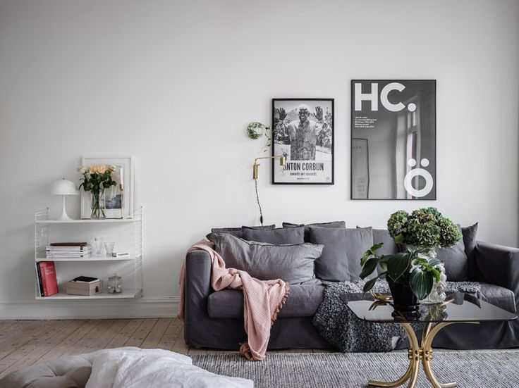 White apartment with an old stove | www.my-full-house.com