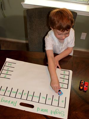 Sight Word Parking Lot Game: Education Activities, Words Parks, Idea, Numbers, Learning Sight Words, Sight Words Games, Parks Lots, Kids, Hot Wheels