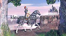 ridder te paard fotobehang
