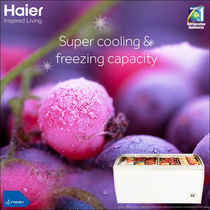 Dual Condenser in #Haier's #DeepFreezers provide excellent freezing #performance and efficiency. #Technology #Appliances #HaierIndia #InspiredLiving