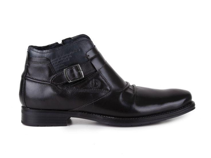 Bugatti - Pánské kožené kotníkové boty, zateplené, Salvatore T9737-4W / černá | obujsi.cz - dámská, pánská, dětská obuv a boty online, kabelky, módní doplňky