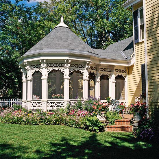 Attached Gazebo With Porch Extension Because Of Their Odd Shape, Gazebos  Attached Directly To Homes